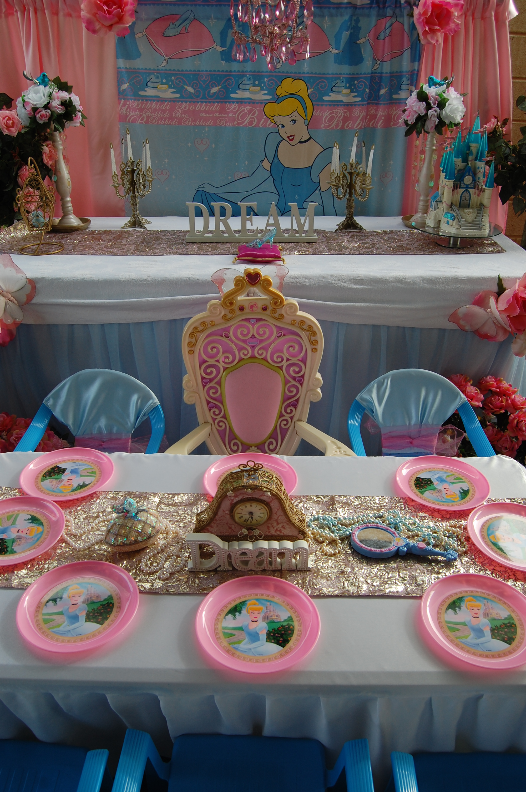 Cinderella Cake Table Wish Upon A Party